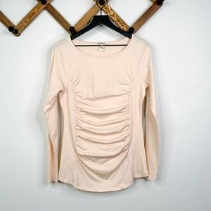 SUNDANCE long sleeve ruched top M